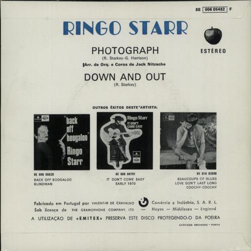 """The Beatles Polska: Ukazuje się trzeci solowy singiel Ringo Starra """"Photograph / Down And Out"""""""