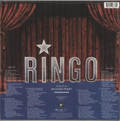 Ringo Starr Ringo - Sealed vinyl LP album (LP record) UK RINLPRI690376