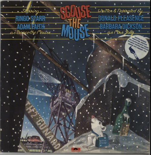 Ringo Starr Scouse The Mouse + Insert & Sleeve Sticker vinyl LP album (LP record) UK RINLPSC62382