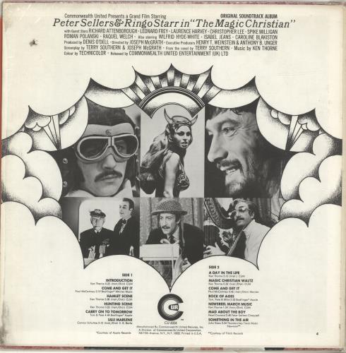 Ringo Starr The Magic Christian - drill-hole vinyl LP album (LP record) US RINLPTH460152