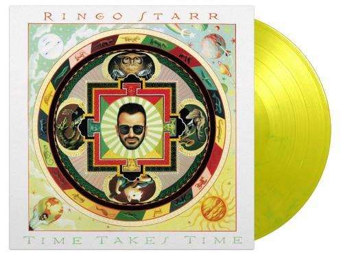 Ringo Starr Time Takes Time - Yellow Vinyl vinyl LP album (LP record) UK RINLPTI751337