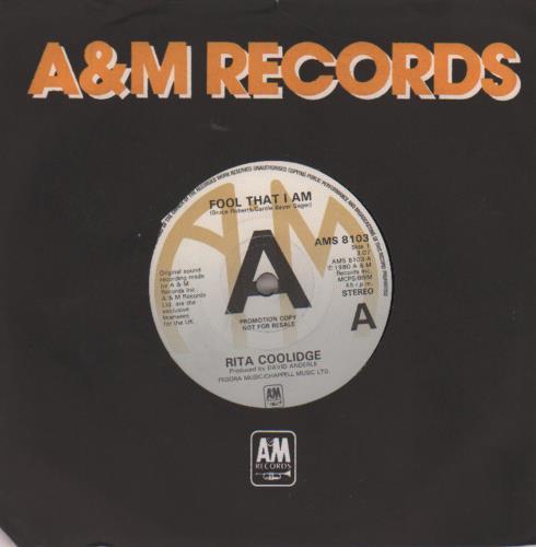 "Rita Coolidge Fool That I Am - A-Label 7"" vinyl single (7 inch record) UK RTC07FO649874"