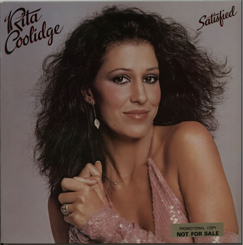 Rita Coolidge Satisfied - Promo Stickered vinyl LP album (LP record) UK RTCLPSA636369