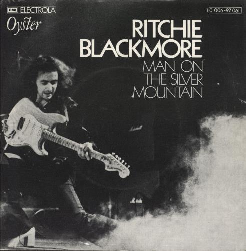 "Ritchie Blackmore Man On The Silver Mountain - VG+ 7"" vinyl single (7 inch record) German RBM07MA744853"
