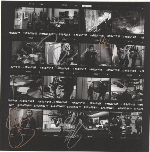 Rival Sons Hollow Bones - Gold - Autographed vinyl LP album (LP record) UK R9VLPHO691226
