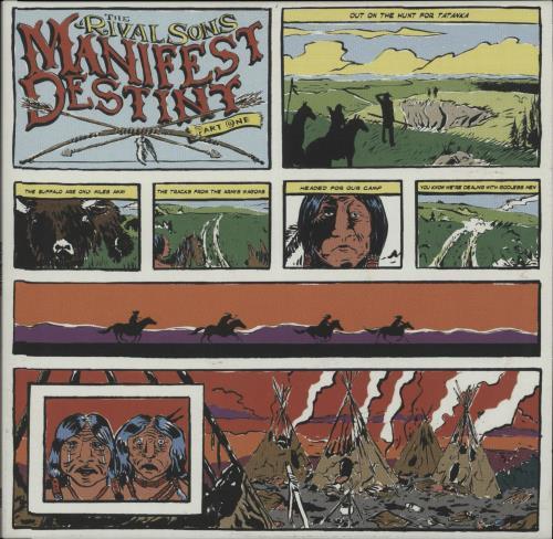 "Rival Sons Manifest Destiny Part One 10"" vinyl single (10"" record) UK R9V10MA658431"