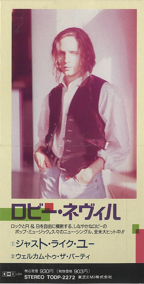 "Robbie Nevil Just Like You 3"" CD single (CD3) Japanese RNVC3JU448912"