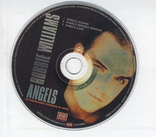 Robbie Williams Angels Colombian Promo Cd Single Cd5 5