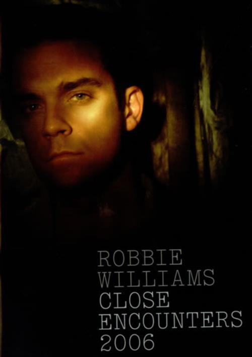 Robbie Williams Close Encounters + Envelope & Ticket Stub tour programme UK RWITRCL515875
