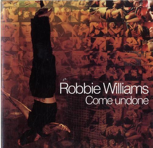 "Robbie Williams Come Undone - Withdrawn Sleeve CD single (CD5 / 5"") Mexican RWIC5CO257871"