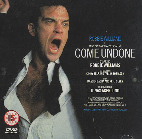 Robbie Williams Come Undone DVD Single UK RWIDSCO457136