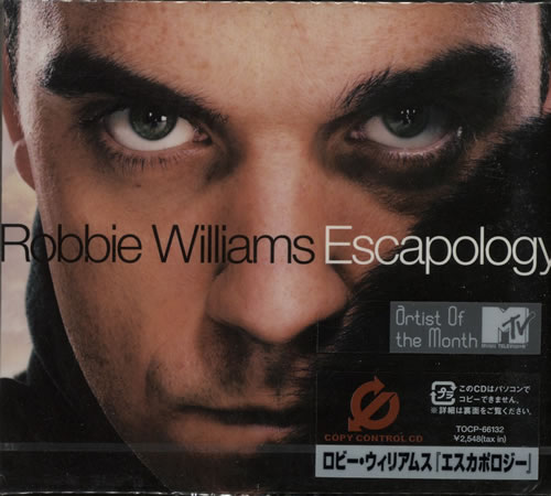 Robbie Williams Escapology CD album (CDLP) Japanese RWICDES243948