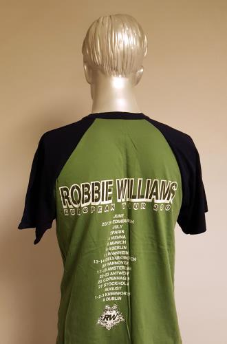 Robbie Williams European Tour 2003 - Khaki/Large t-shirt UK RWITSEU672271