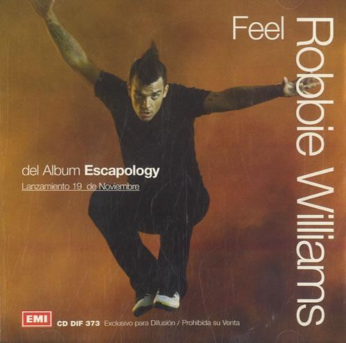 "Robbie Williams Feel CD single (CD5 / 5"") Argentinean RWIC5FE231943"