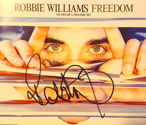 "Robbie Williams Freedom - Part 2 - Autograhed CD single (CD5 / 5"") UK RWIC5FR749125"
