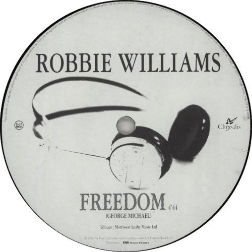 "Robbie Williams Freedom 12"" vinyl single (12 inch record / Maxi-single) French RWI12FR159820"