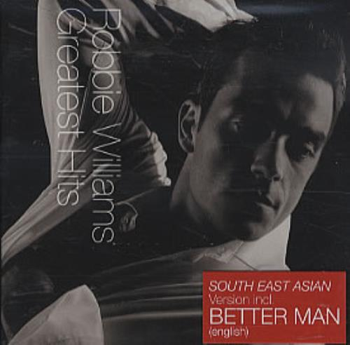 Robbie Williams Greatest Hits [South East Asia Version] CD album (CDLP) Singapore RWICDGR308531