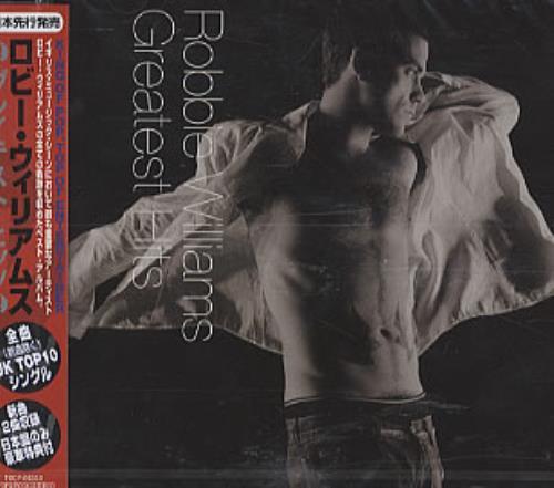 Robbie Williams Greatest Hits CD album (CDLP) Japanese RWICDGR312384