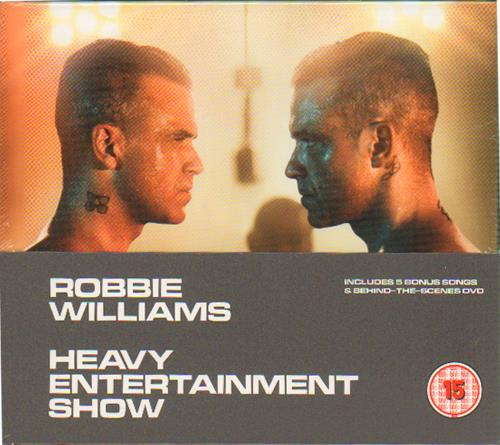 Robbie Williams Heavy Entertainment Show - Deluxe Edition - Sealed 2-disc CD/DVD set UK RWI2DHE661503