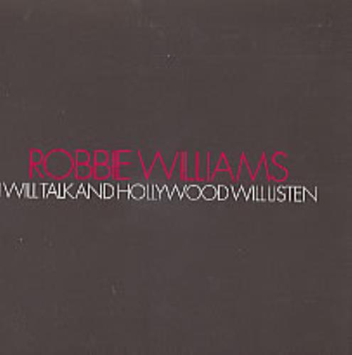 "Robbie Williams I Will Talk And Hollywood Will Listen CD single (CD5 / 5"") UK RWIC5IW214848"