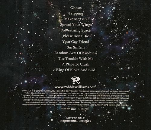 Robbie Williams Intensive Care CD album (CDLP) Korean RWICDIN487733