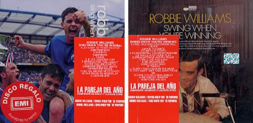 Robbie Williams La Pareja Del Año - Swing & Sing When You're Winning 2 CD album set (Double CD) Colombian RWI2CLA236068