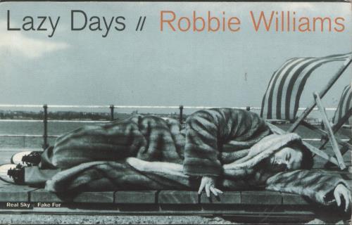 Robbie Williams Lazy Days cassette single UK RWICSLA243317