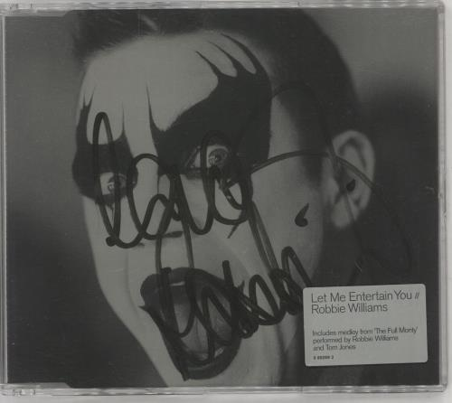 "Robbie Williams Let Me Entertain You - Autographed CD single (CD5 / 5"") UK RWIC5LE749124"