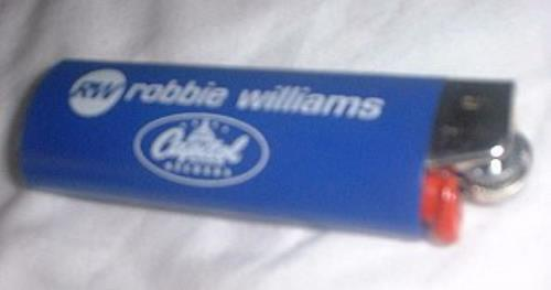 Robbie Williams Lighter memorabilia US RWIMMLI143971