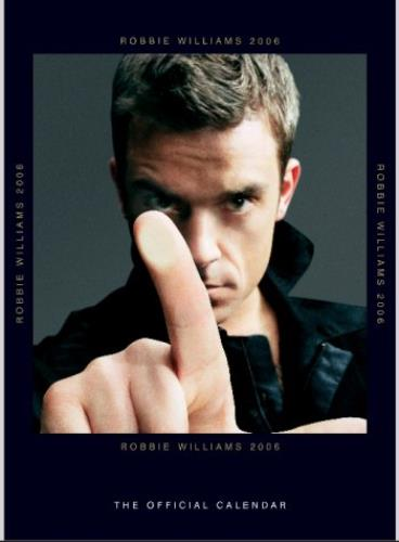 Robbie Williams Official Calendar 2006 calendar UK RWICAOF336850