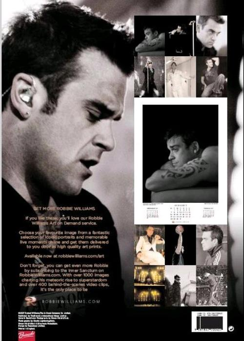 Robbie Williams Official Calendar 2008 calendar UK RWICAOF395634