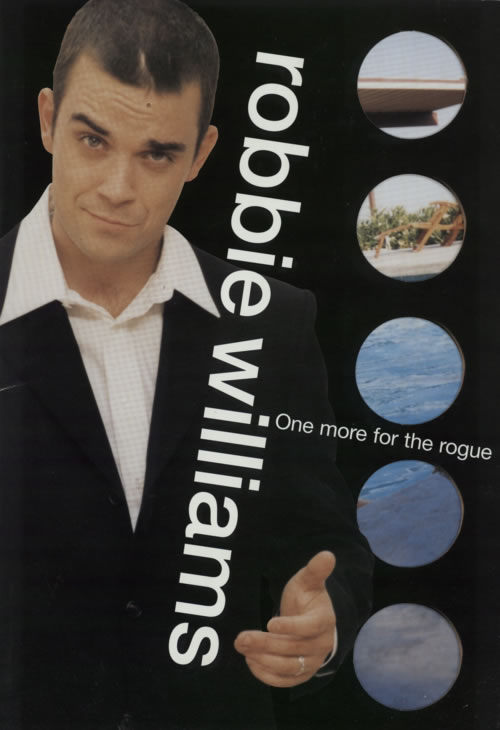 Robbie Williams One More For The Rogue + Ticket stub tour programme UK RWITRON594785