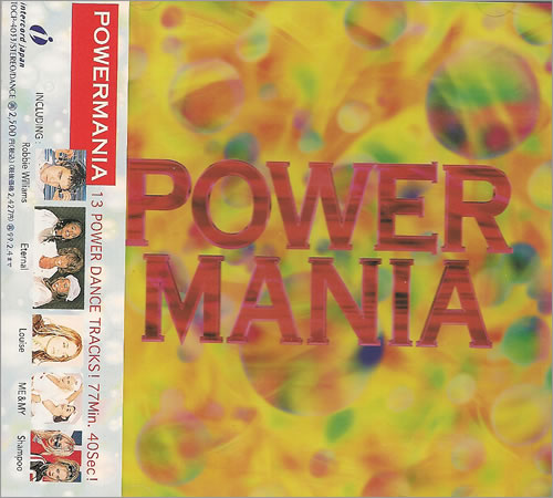 Robbie Williams Powermania CD album (CDLP) Japanese RWICDPO487977
