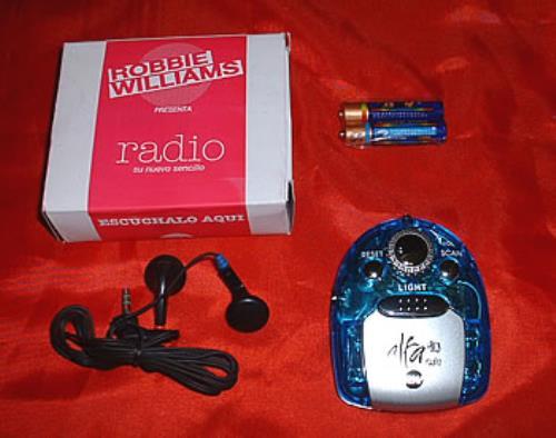 Robbie Williams Radio memorabilia Mexican RWIMMRA309349