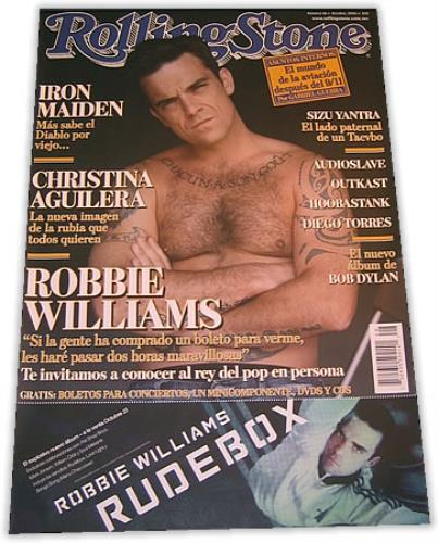 Robbie Williams Rolling Stone poster Mexican RWIPORO382702