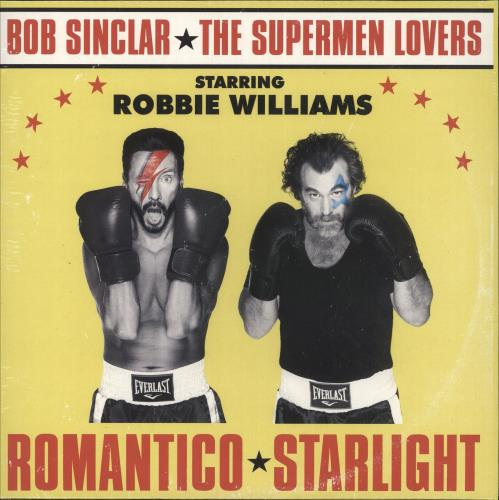 "Robbie Williams Romantico Starlight - Gold Vinyl - Sealed 12"" vinyl single (12 inch record / Maxi-single) UK RWI12RO728864"