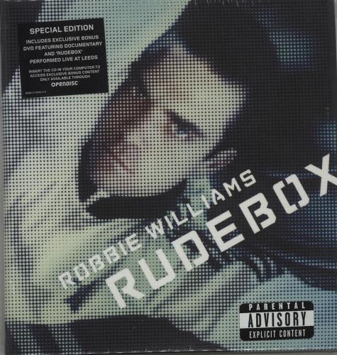 Robbie Williams Rudebox 2-disc CD/DVD set UK RWI2DRU662861