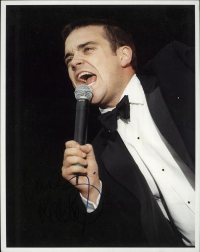 Robbie Williams Signed Photograph photograph UK RWIPHSI726522