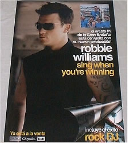 "Robbie Williams Sing When You're Winning - 16"" x 24"" poster Mexican RWIPOSI170859"