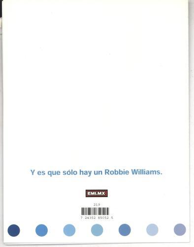 Robbie Williams Sing When You're Winning handbill Mexican RWIHBSI169945