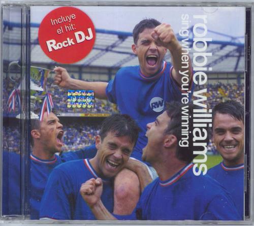 Robbie Williams Sing When You're Winning CD album (CDLP) Argentinean RWICDSI232318