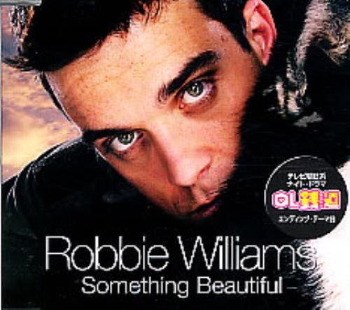 Robbie Williams Something Beautiful CD-R acetate Japanese RWICRSO255324