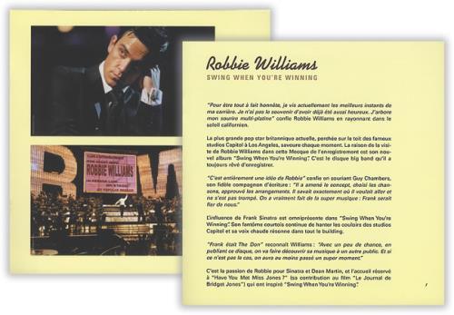 Robbie Williams Swing When You're Winning handbill French RWIHBSW207003