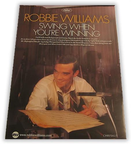 Superb robbie williams swinging when your winning