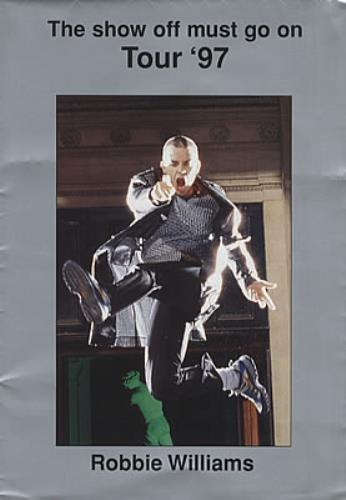Robbie Williams The Show Off Must Go On Tour '97 tour programme UK RWITRTH224544