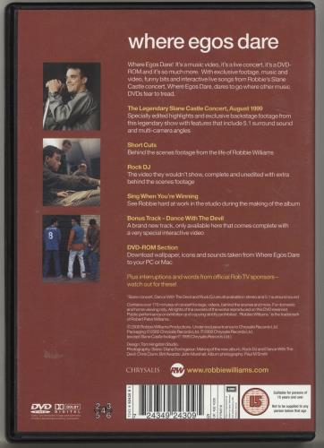 Robbie Williams Where Egos Dare DVD UK RWIDDWH170449