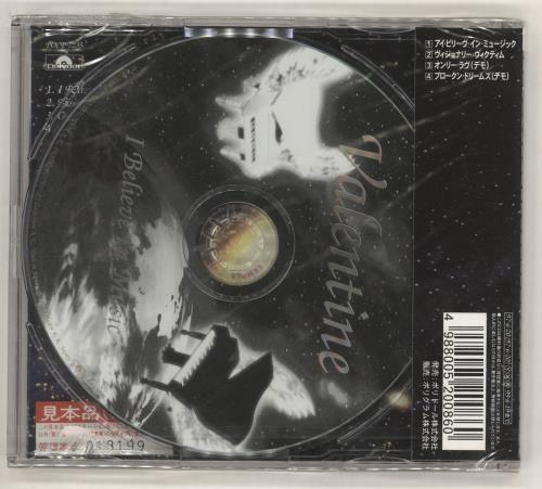 """Robby Valentine I Believe In Music CD single (CD5 / 5"""") Japanese RBVC5IB720914"""