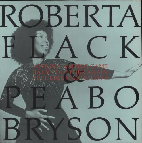 """Roberta Flack And Peabo Bryson Love Is A Waiting Game 12"""" vinyl single (12 inch record / Maxi-single) UK W1B12LO747601"""