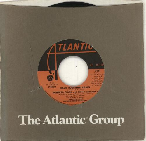 "Roberta Flack Back Together Again 7"" vinyl single (7 inch record) US RFK07BA715143"