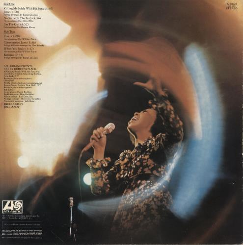 Roberta Flack Killing Me Softly - Green & Orange vinyl LP album (LP record) UK RFKLPKI748361